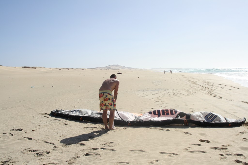 Pumping the kite in Boa Vista