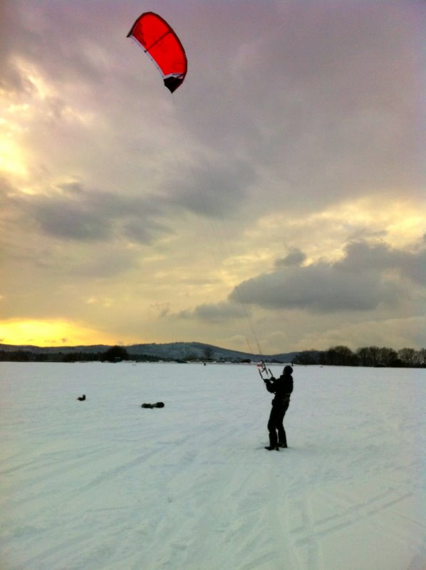 Snow kite course